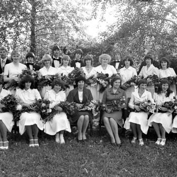 Vidusskolas izlaidums Madlienā, 1982