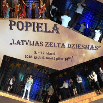 """Popiela """"Latvijas zelta dziesmas"""" Madlienas vidusskolā"""